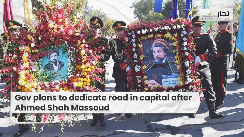 Gov plans to dedicate road in capital after Ahmed Shah Massoud