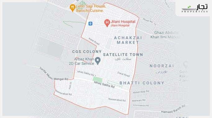 Satellite Town Quetta Location