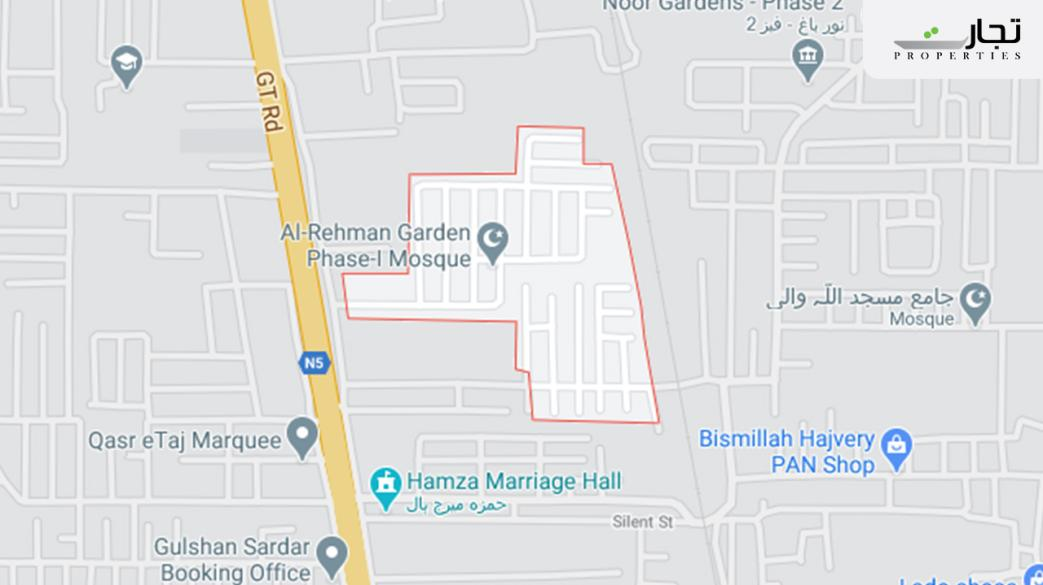 Al Rehman Garden Lahore Location