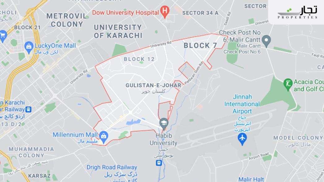 Gulistan-e-Jauhar Karachi map