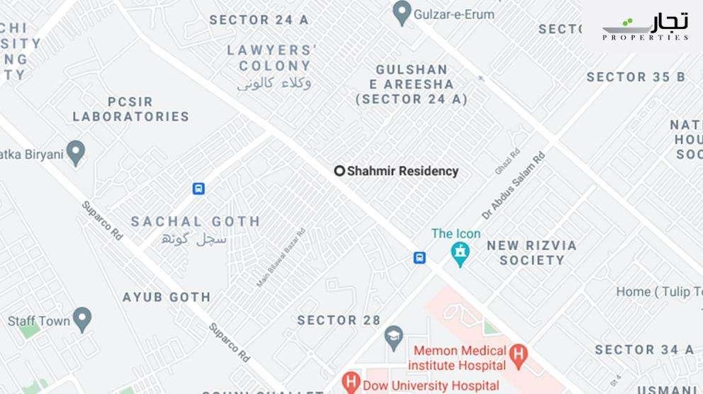 Shahmir Residency Karachi Location map