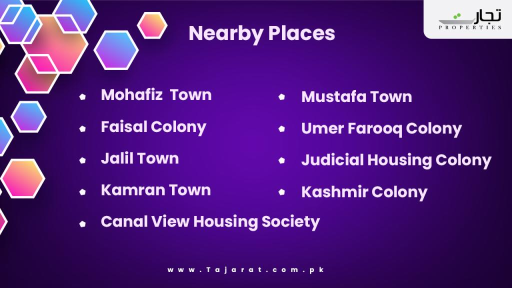 Wapda Town Gujranwala nearby landmarks and places