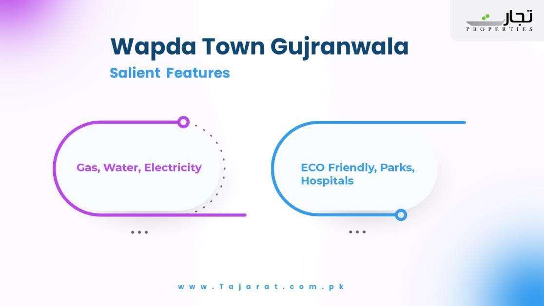 Salient Features of Wapda Town Gujranwala