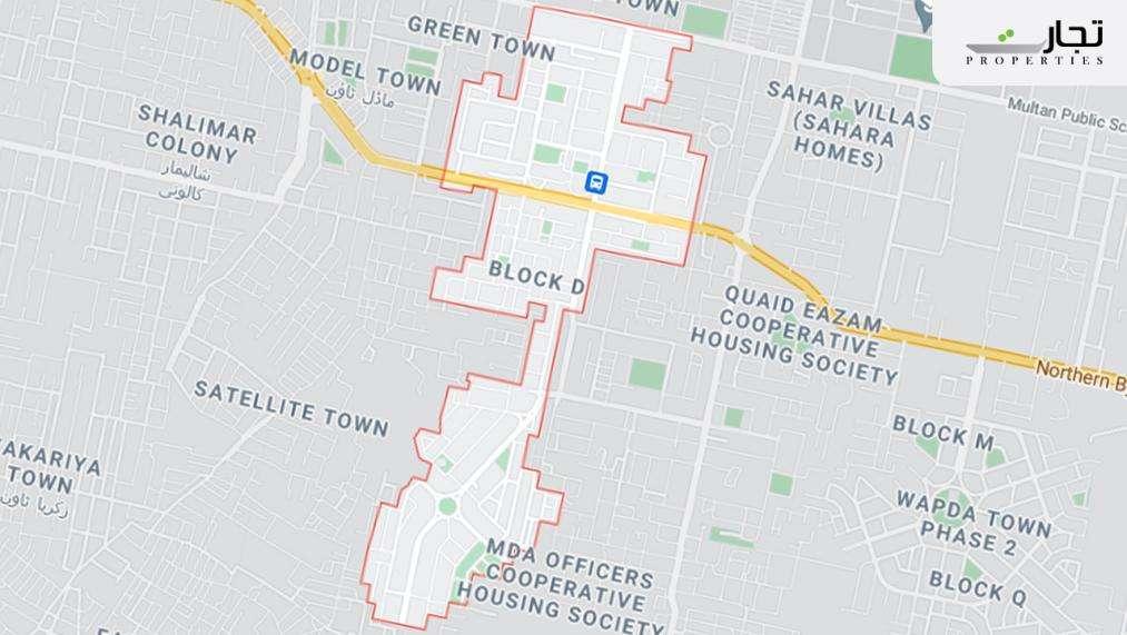 Wapda Town Multan Location map