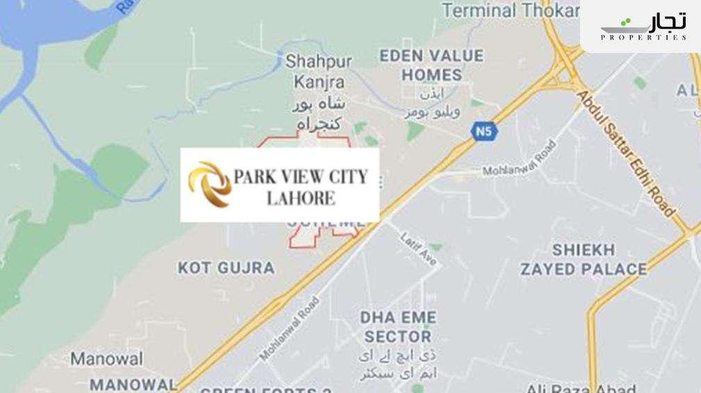 Park View City Lahore map