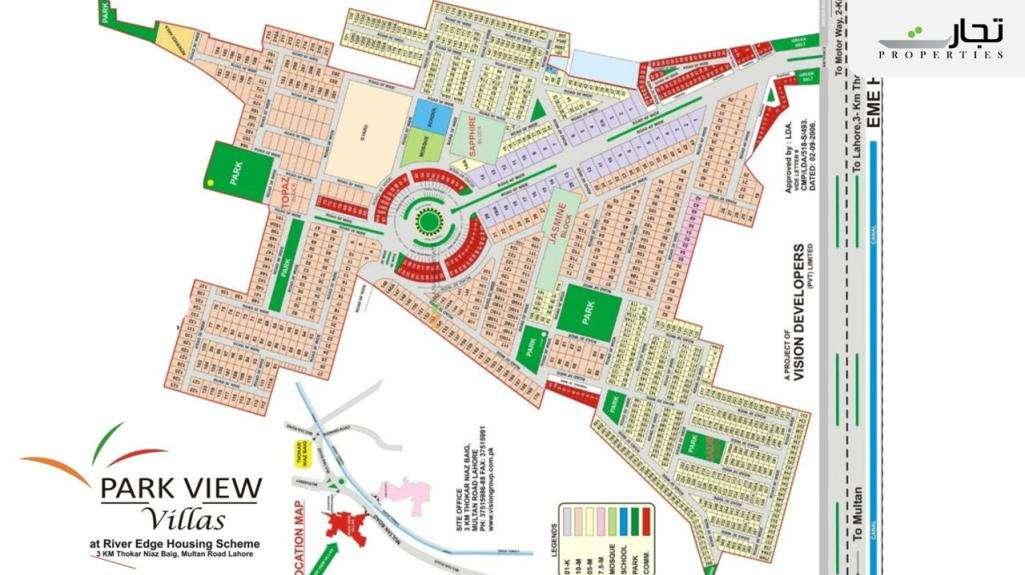 Park View City Lahore Master Plan