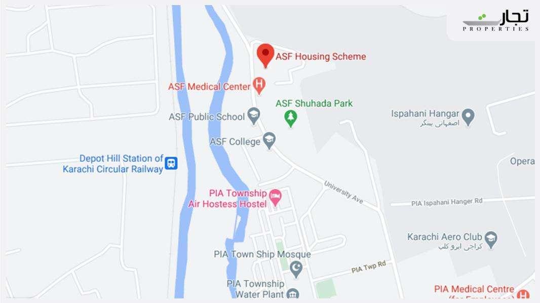 ASF Housing Scheme Karachi Location