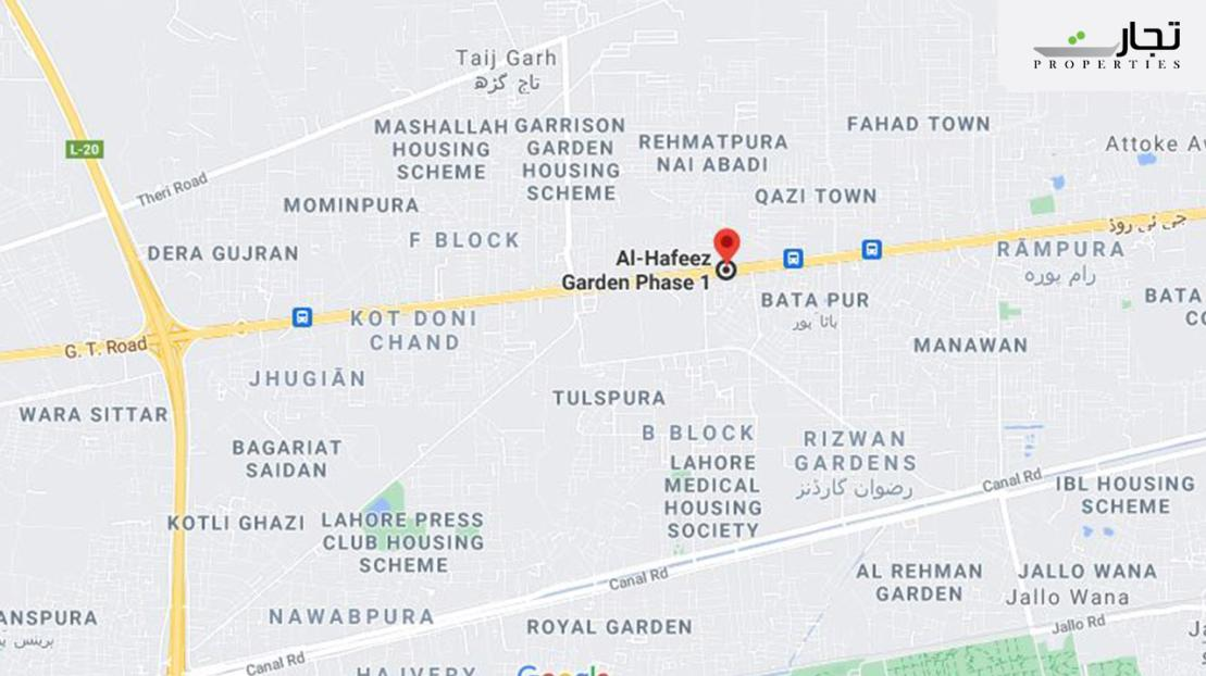 Al Hafeez Garden Lahore nearby landmarks and places