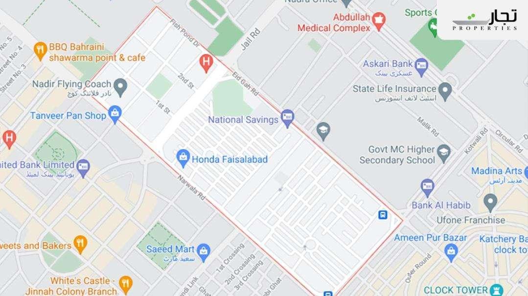 Model Town Khurrianwala Faisalabad Location