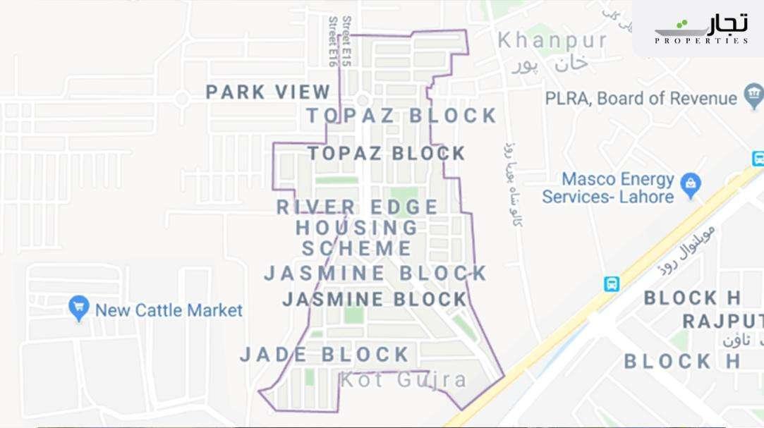 Park View Villas Lahore Location