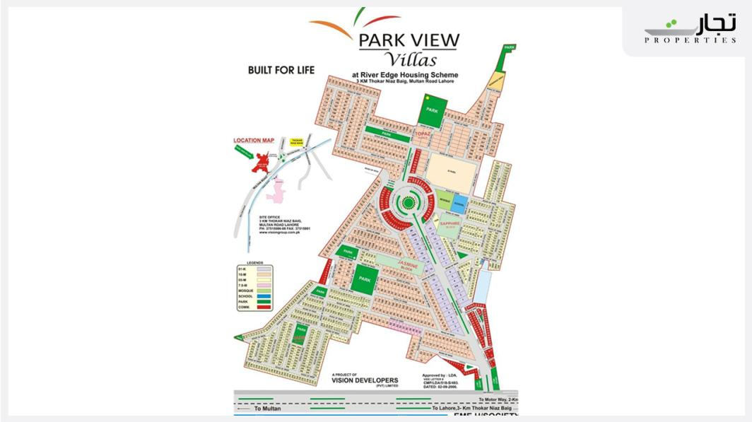 Park View Villas Lahore Master Plan