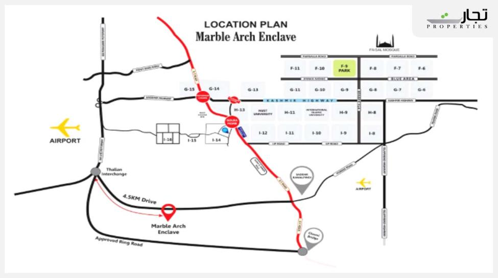 Marble Arch Enclave Islamabad location