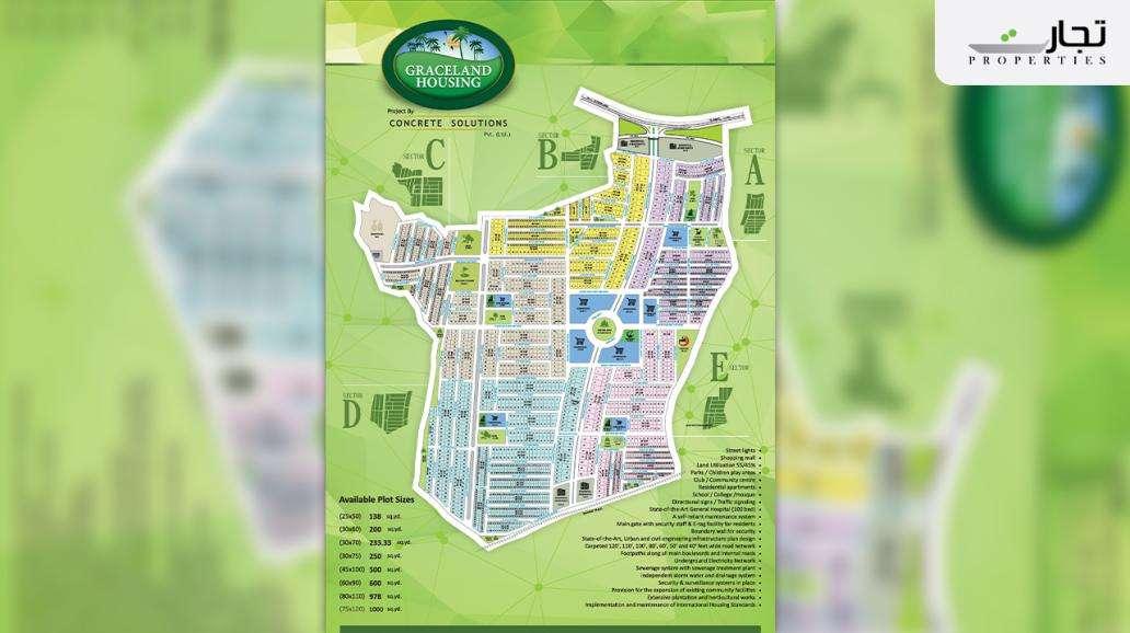Graceland Housing Islamabad Master Plan & Floor Plan