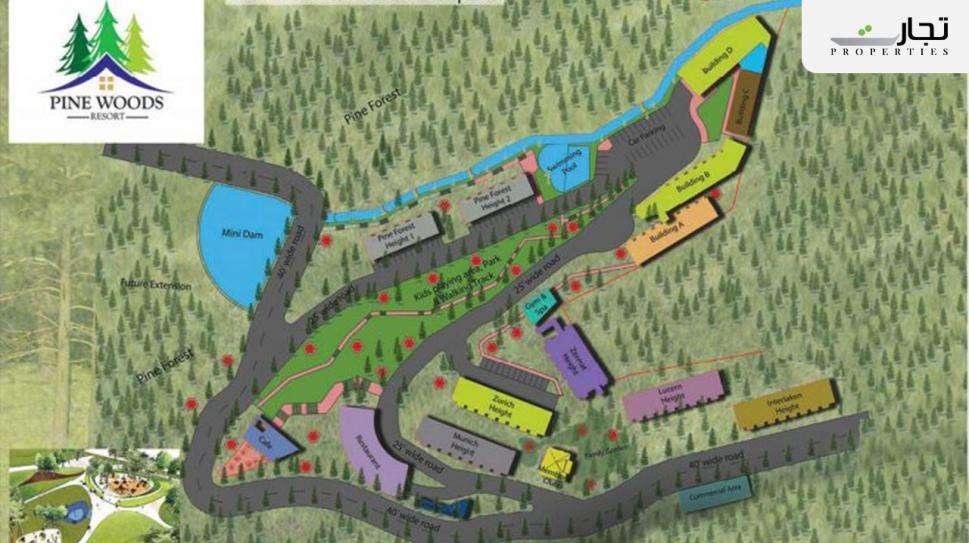 Pine Woods Resort Islamabad Master Plan & Floor Plans
