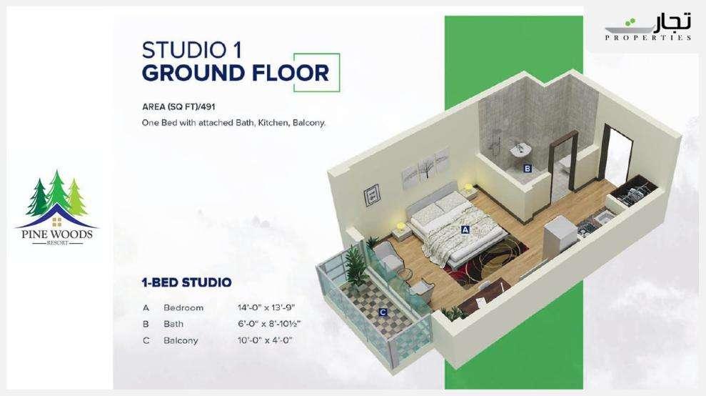 Pine Woods Studio Apartments Floor Plans