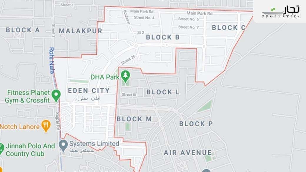 Eden City Lahore Location