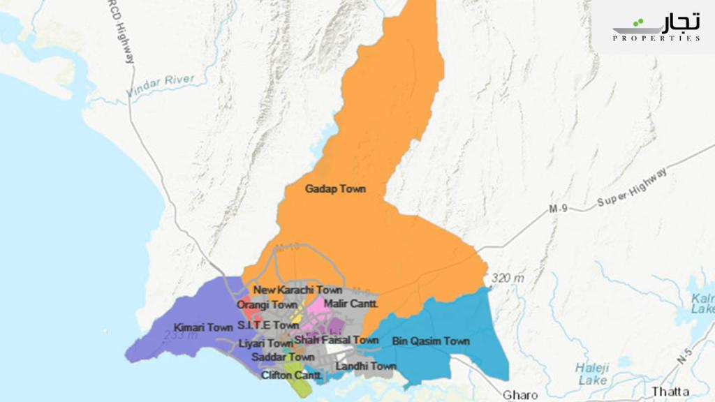 Gadap Town Location