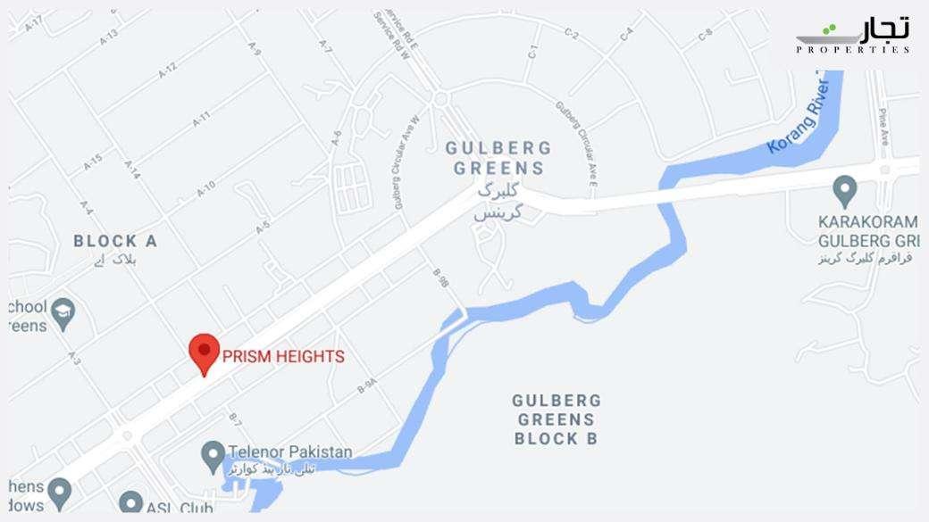 Prism Heights Gulberg Greens Islamabad Location