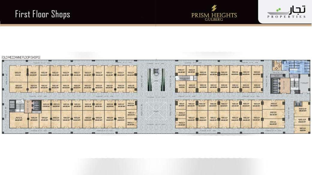 Prism Heights Shops 1stLevel Floor Plan