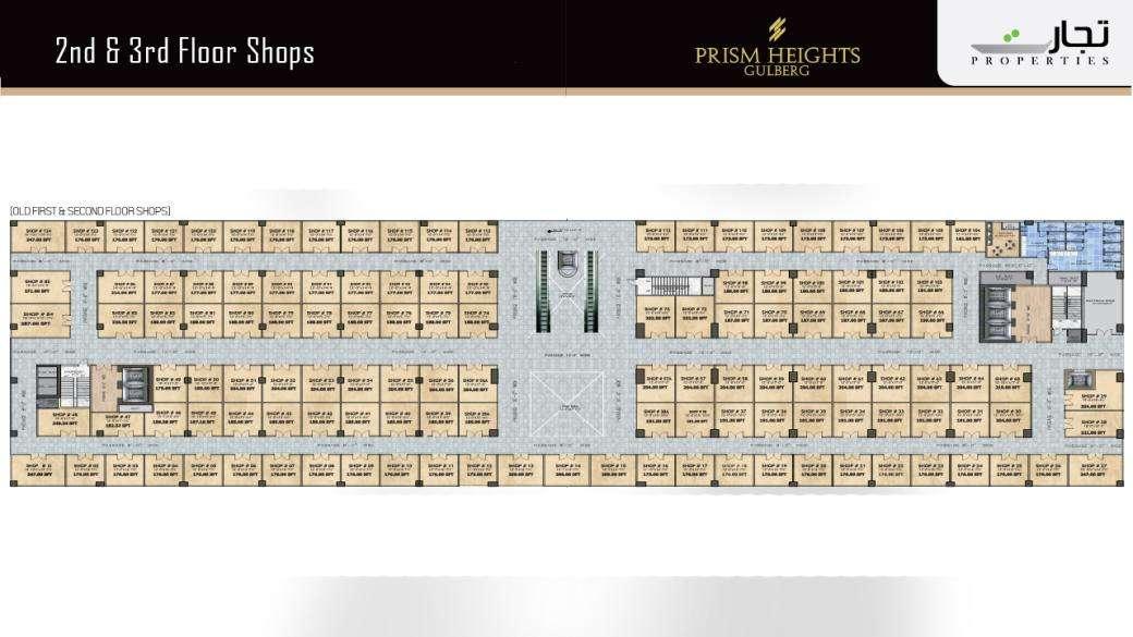 Prism Heights Shops 2nd& 3rdLevel Floor Plan