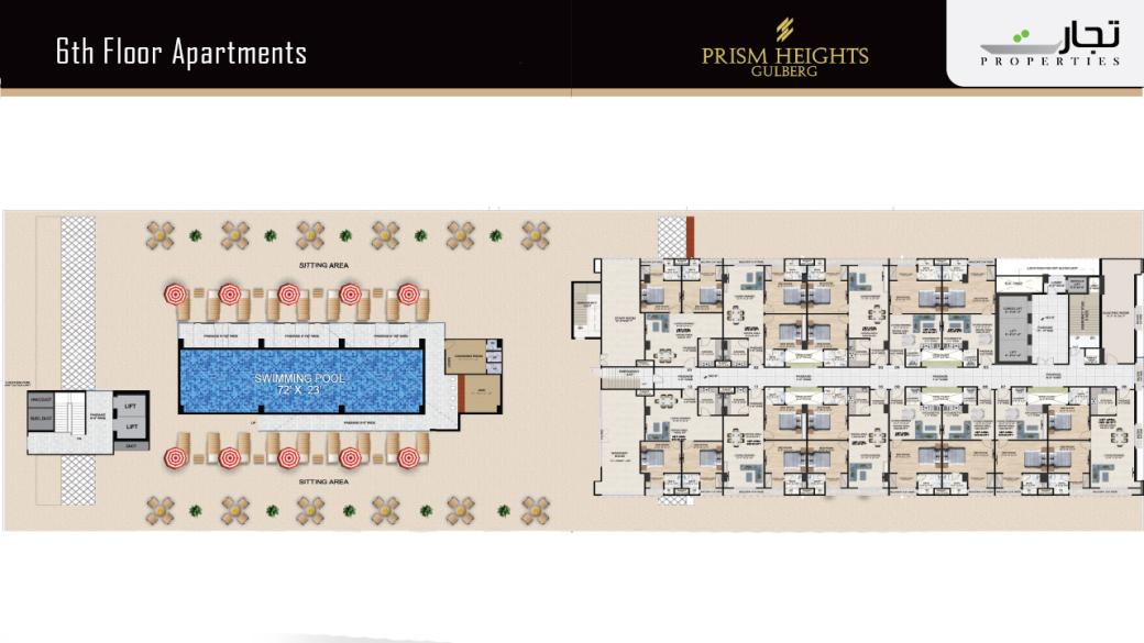 Prism Heights Apartments 6thLevel Floor Plan