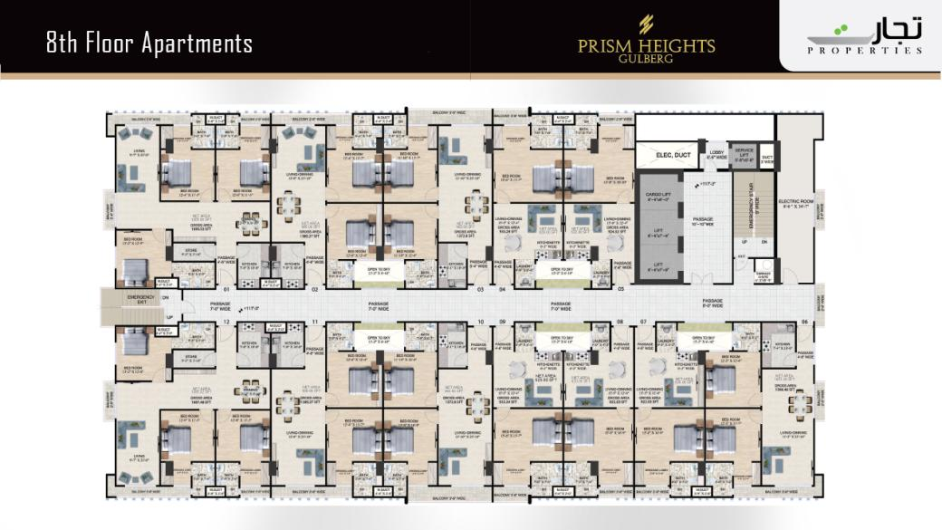 Prism Heights Apartments 8thLevel Floor Plan