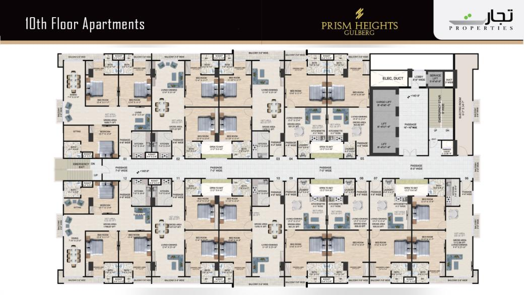 Prism Heights Apartments 10thLevel Floor Plan