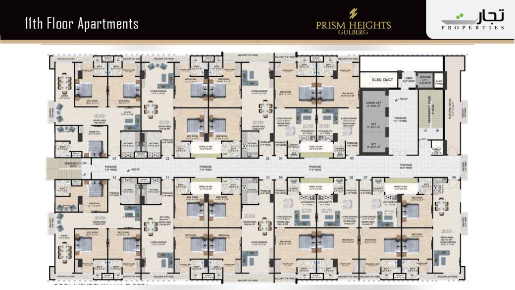 Prism Heights Apartments 11thLevel Floor Plan