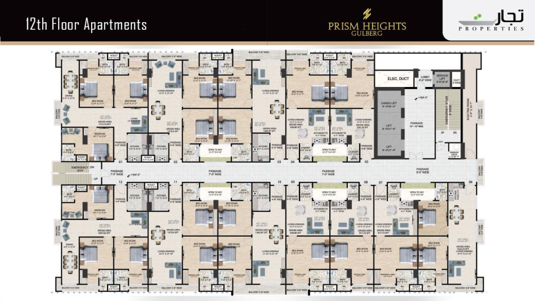 Prism Heights 12th Level Apartments Floor Plan
