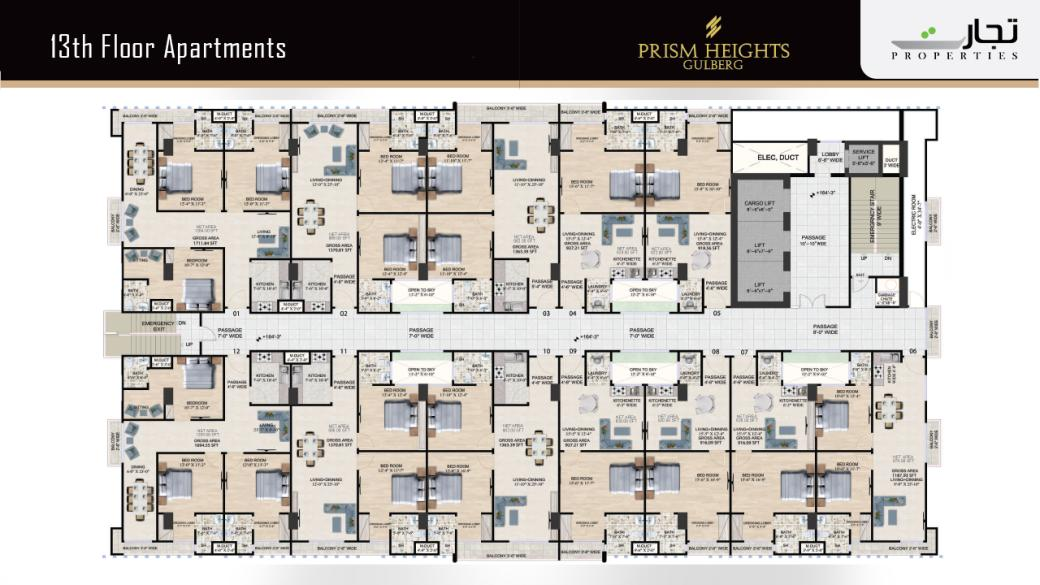 Prism Heights 13th Level Apartments Floor Plans