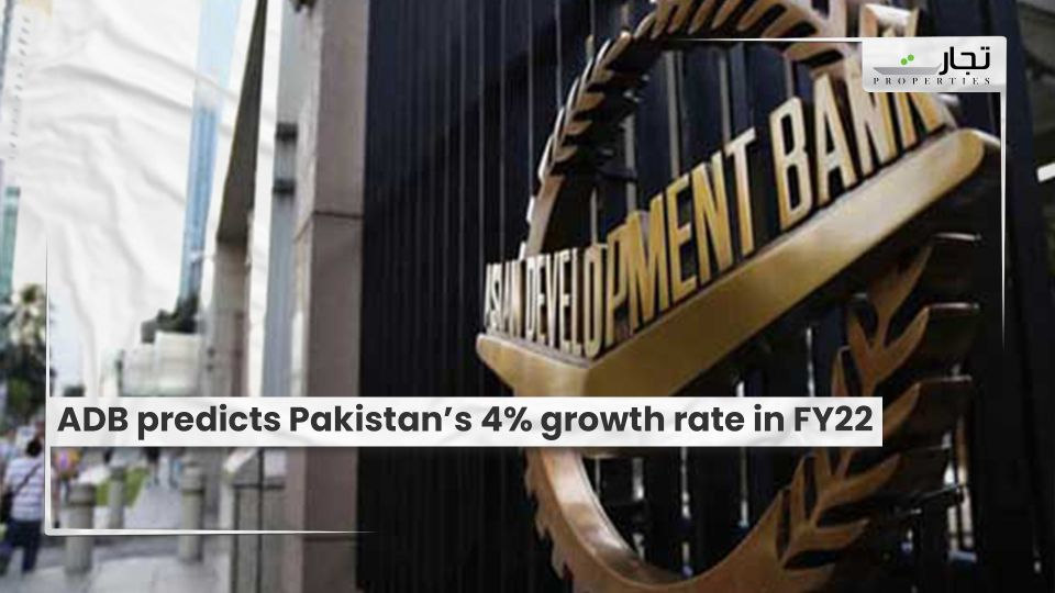 ADB predicts Pakistan's 4% growth rate in FY22