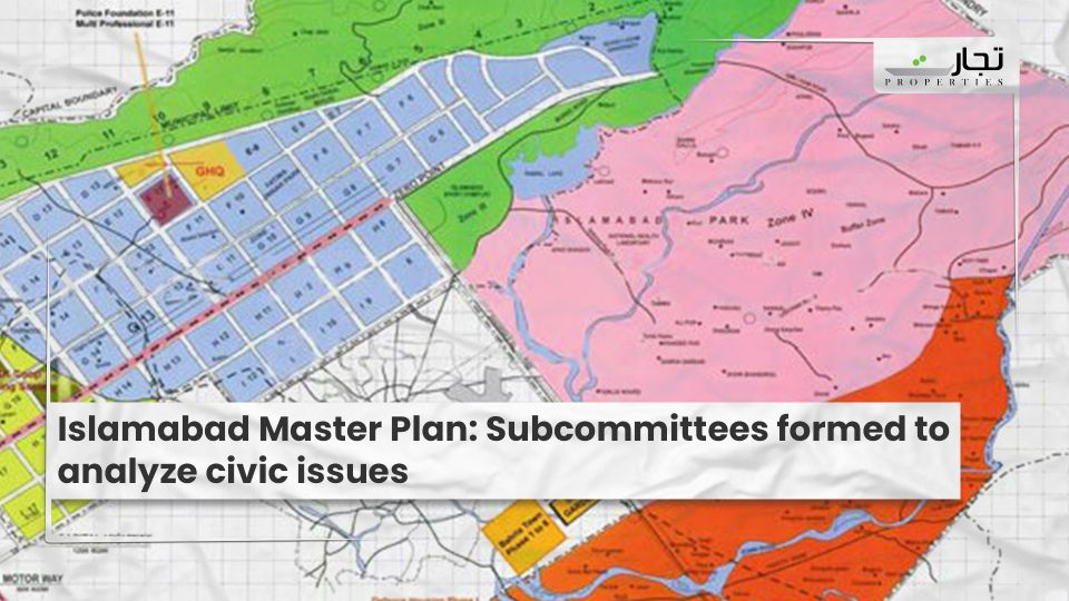 Islamabad Master Plan: Subcommittees formed to analyze civic issues