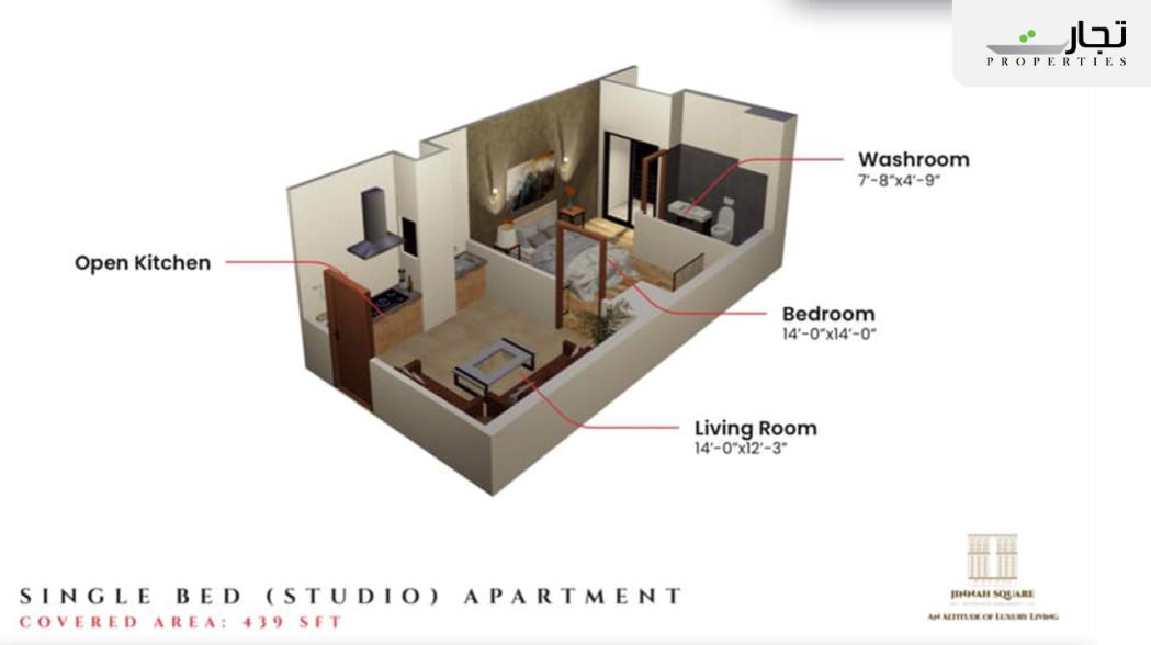 Jinnah Square Residential Apartments Studio Apartment