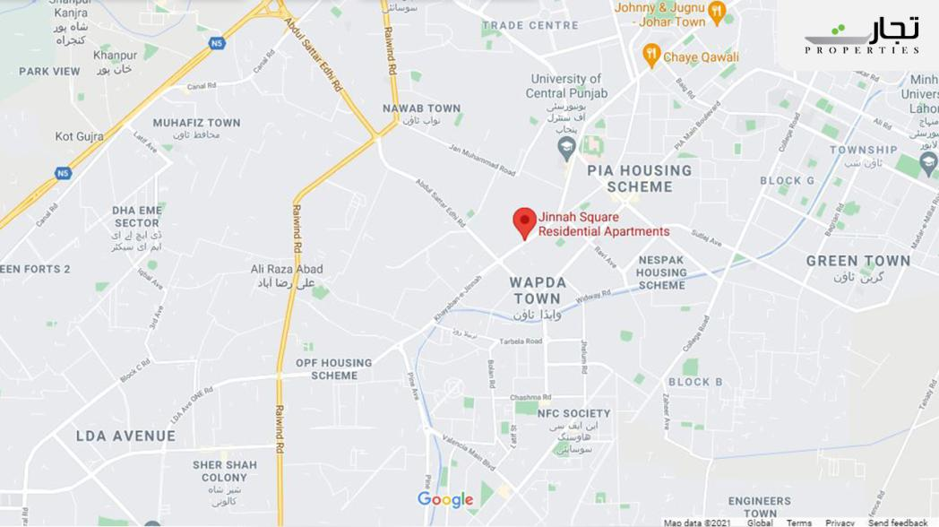 Jinnah Square Lahore Nearby Landmarks & Places: