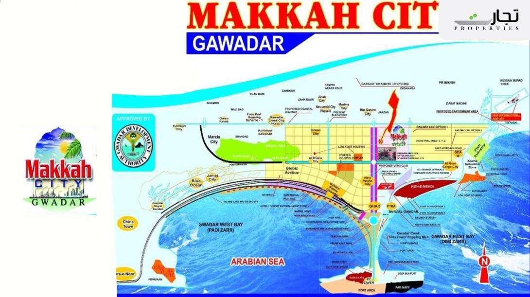 Makkah City Gwadar Location