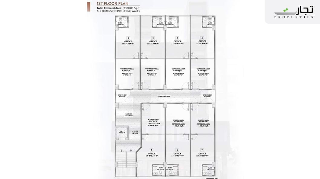 Multi Residencia & Orchards First Floor Plan