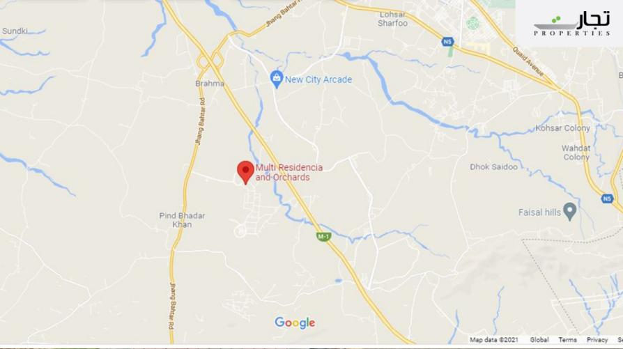 Multi Residencia & Orchards Farm Housing Project Islamabad location