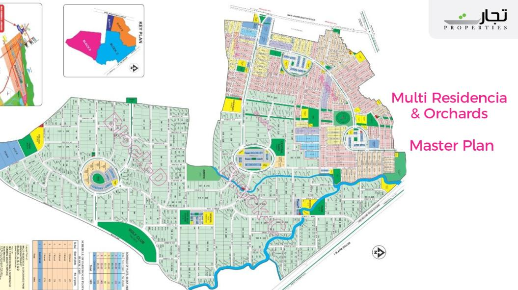 Multi Residencia & Orchards Farm Housing Project Islamabad Master Plan