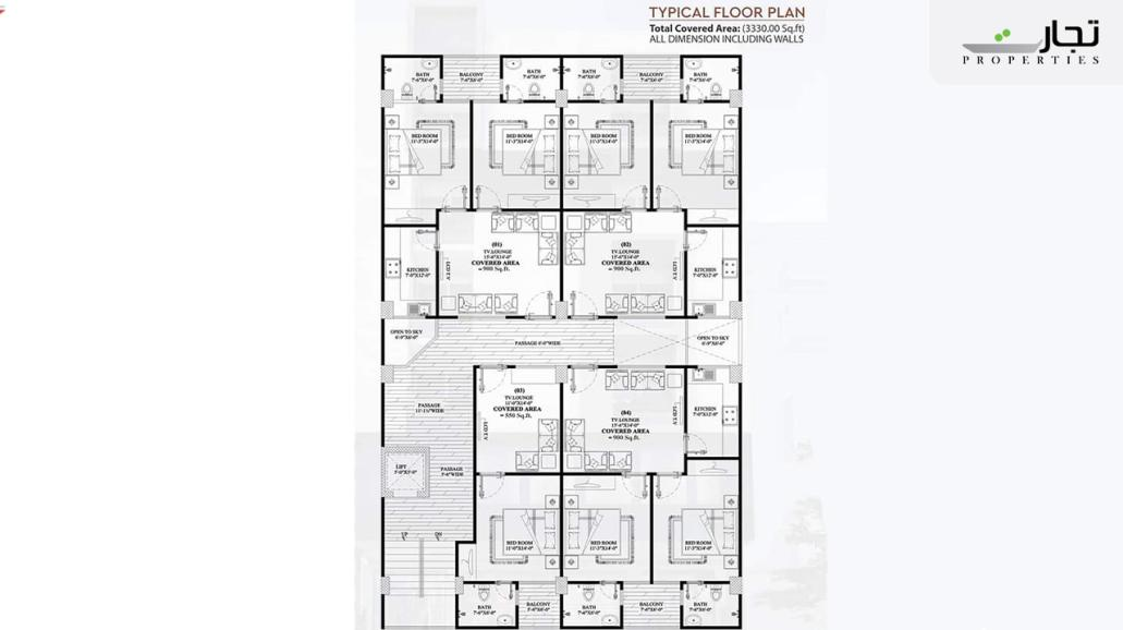 Multi Residencia & Orchards Typical Floor Plan