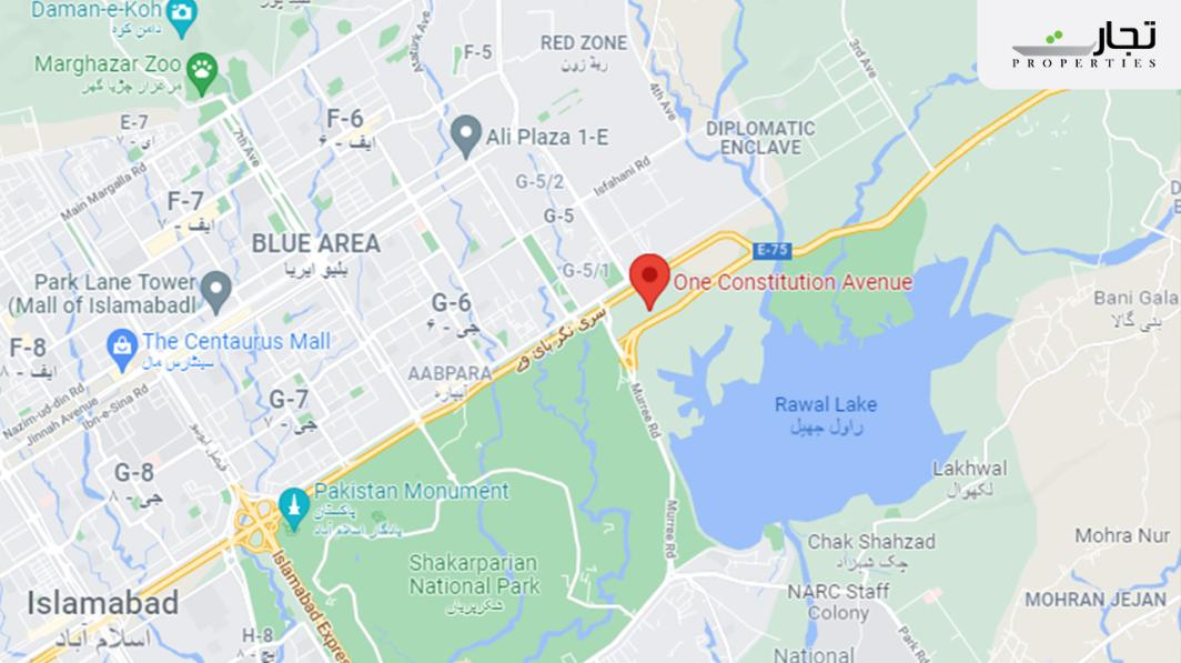 One Constitution Avenue Islamabad Location
