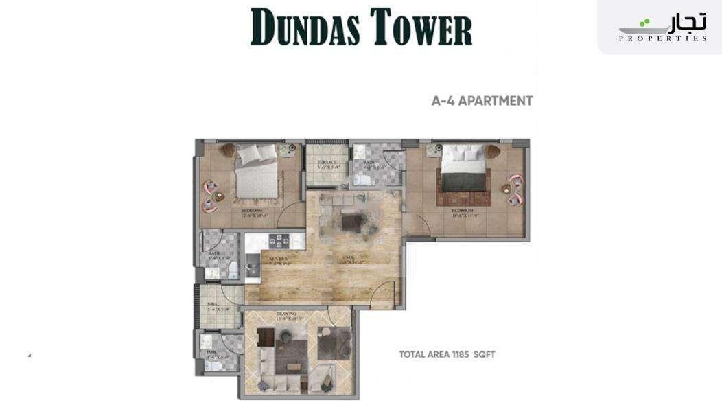 Dundas Tower Floor Plan A-4 Apartment