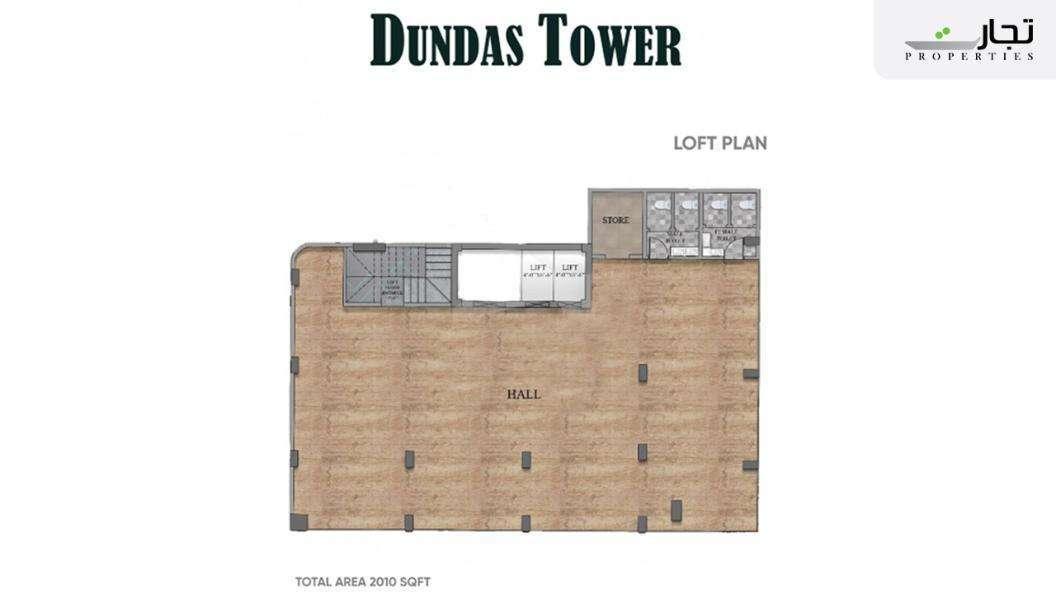 Dundas Tower Floor Plan Loft Plan