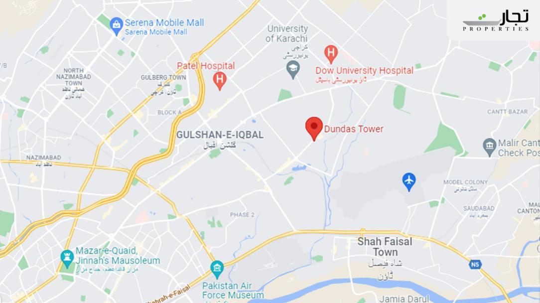 Dundas Tower Karachi Location