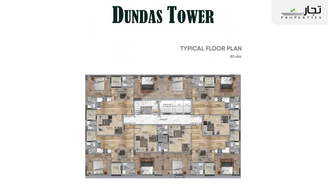 Dundas Tower Typical Floor Plan