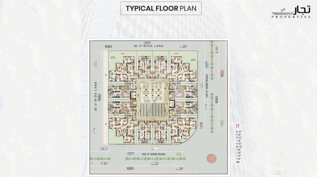 Maymar Pride Karachi Typical Floor Plan