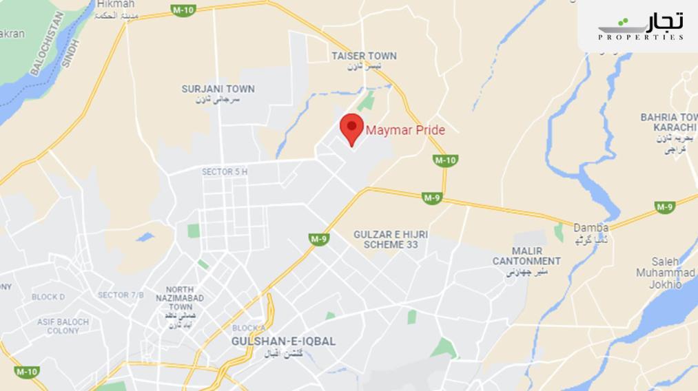 Maymar Pride Karachi Location