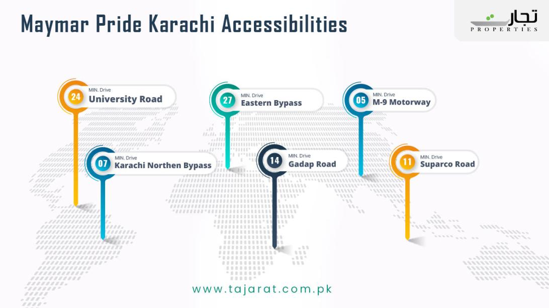 Maymar Pride Karachi accessibilities