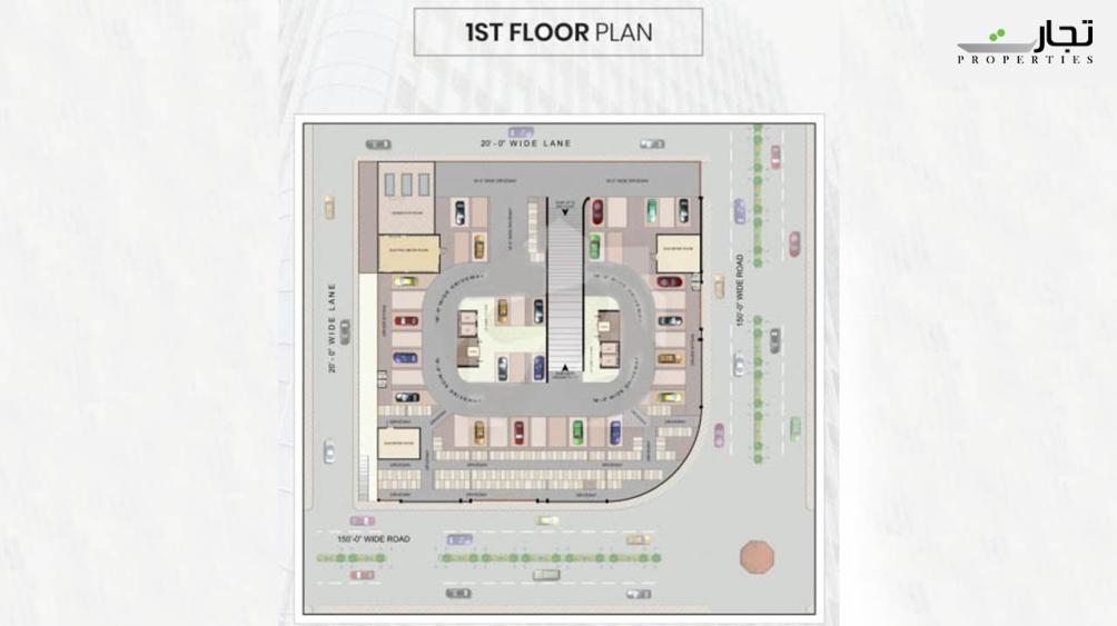Maymar Pride Karachi 1st Floor Plan