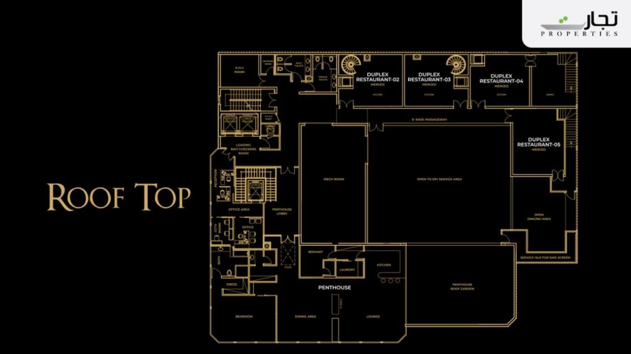 V8 Mall Islamabad Roof Top Floor Plan