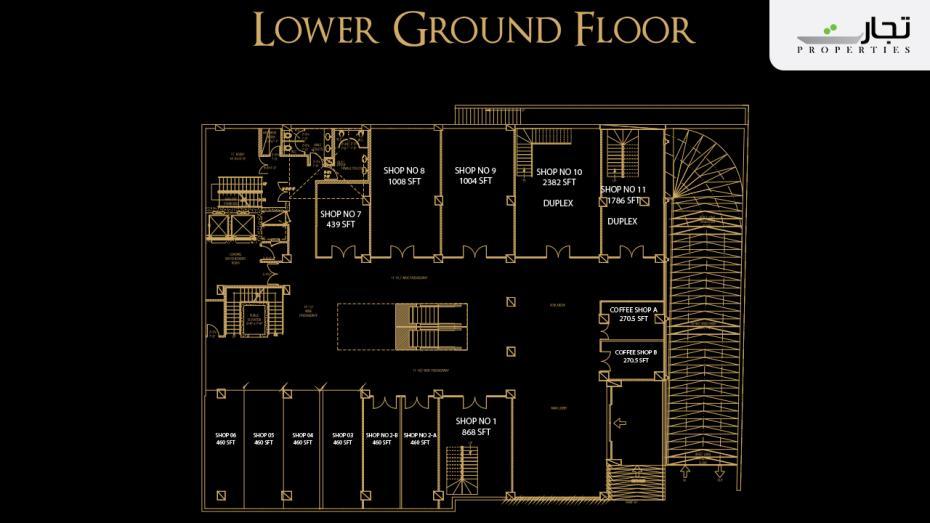 V8 Mall Islamabad Lower Ground Floor Plan